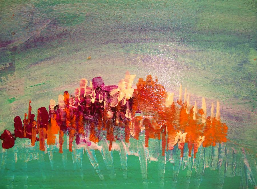 Abstract Painting - Bursting Forth by Sharon Bock