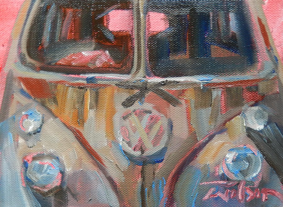 Bus Painting - Bus-rust by Ron Wilson