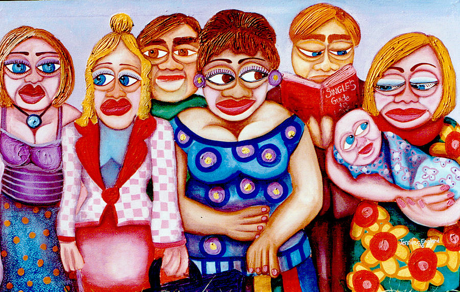 People Painting - Bus Stop 1996 by Jennifer England