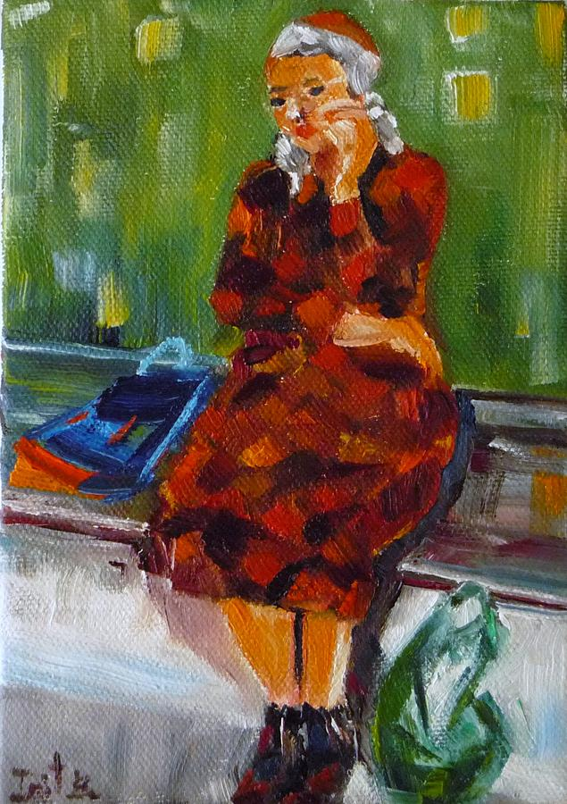 Bus Stop Painting - Bus Stop by Irit Bourla