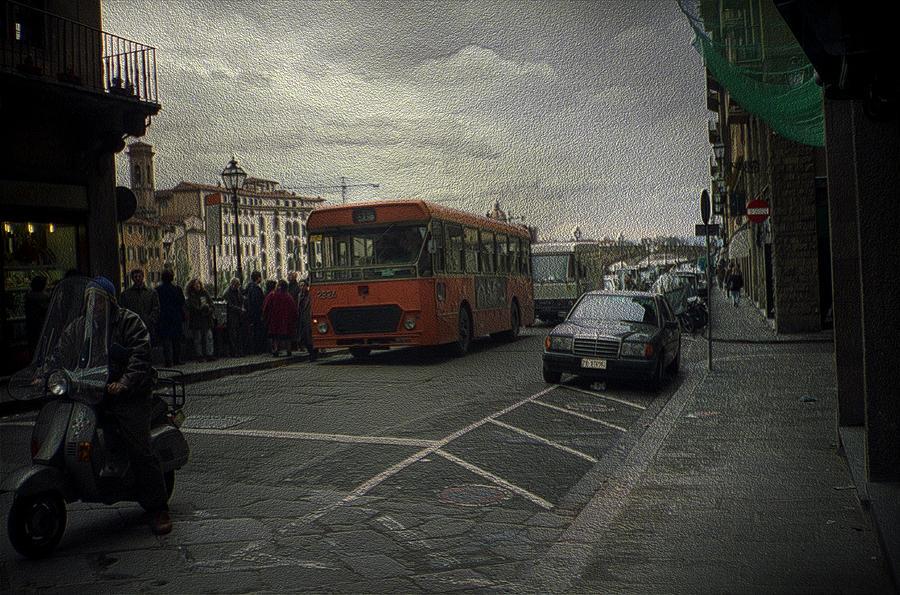 Bus Stop by Maria Reverberi