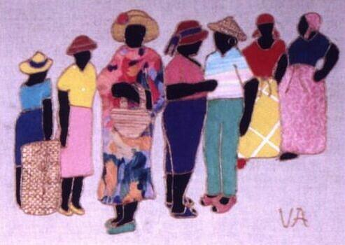 Women Painting - Bus Stop by Valerie X Armstrong