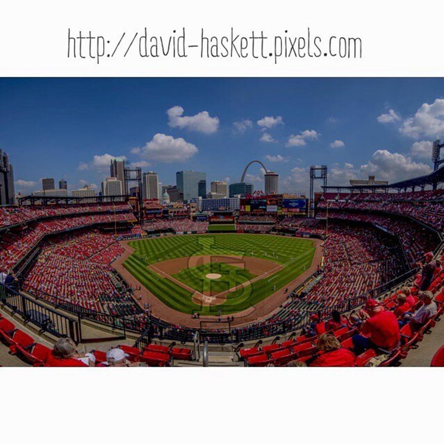 Prints Photograph - #buschstadium #cardinalnation #baseball by David Haskett II