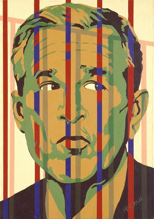 Neocon Painting - Bush by Dennis McCann