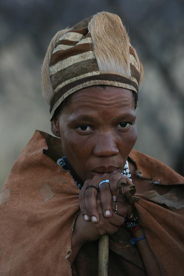 Bushmen Photograph - Bushmen Woman by Miranda  Miranda