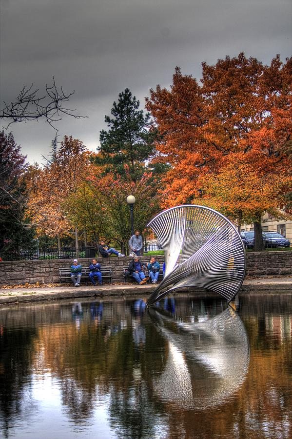 Bushnell Park Autumn Photograph by Sam Turgeon