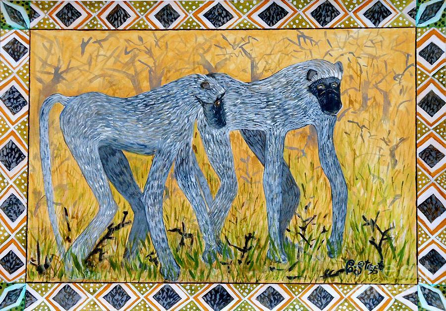 Primates Painting - Bushveld Bliss by Caroline Street