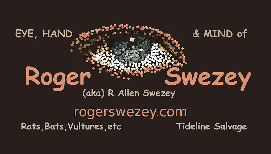 business card by Roger Swezey