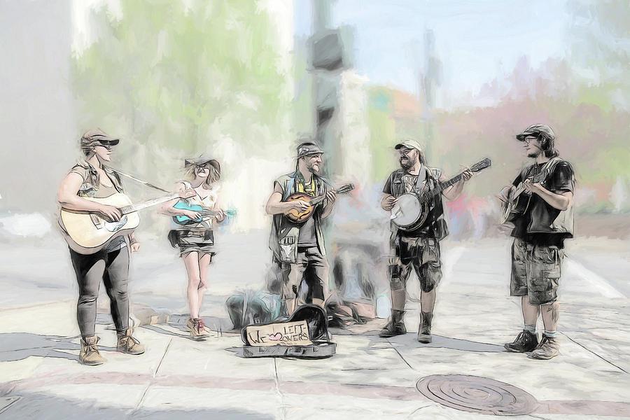 Buskers Photograph - Busker Quintet by John Haldane