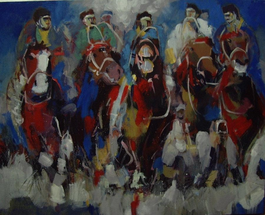 Horse Painting - Buskusi by Shan Naqvi