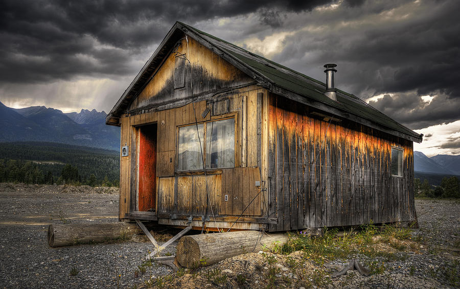 Architecture Photograph - Busted Shack by Wayne Sherriff