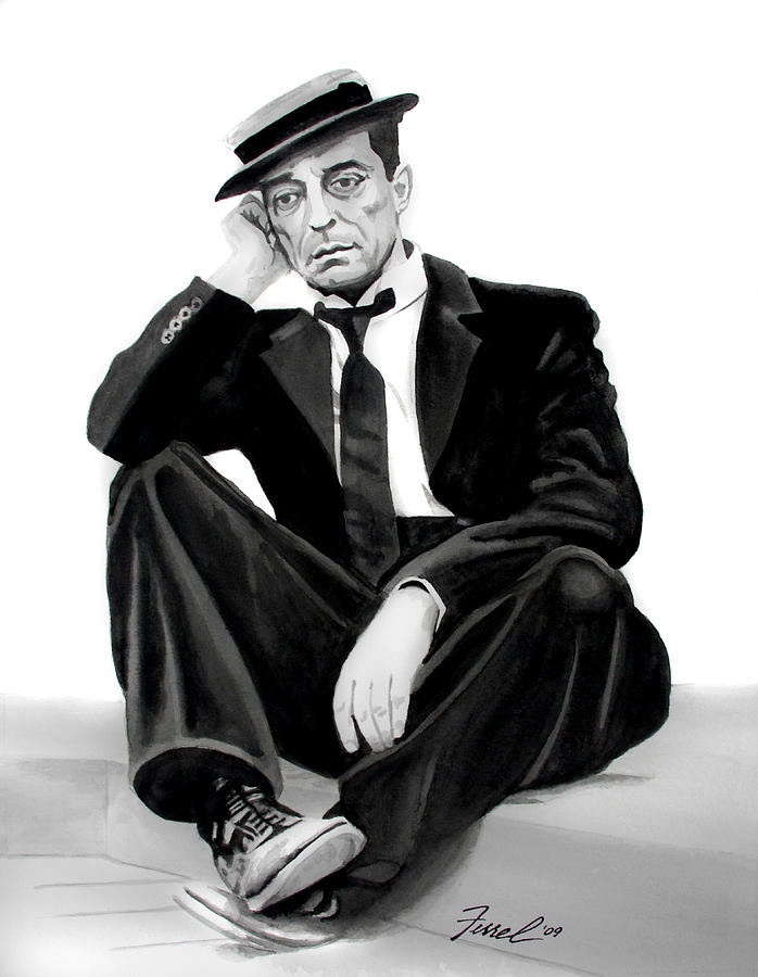 Black And White Painting - Buster by Ferrel Cordle