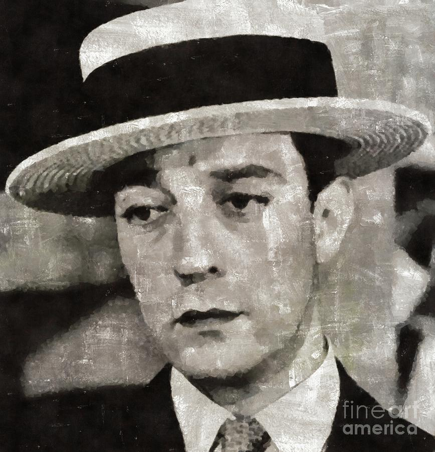 Buster Keaton, Comedy Legend Painting By Mary Bassett