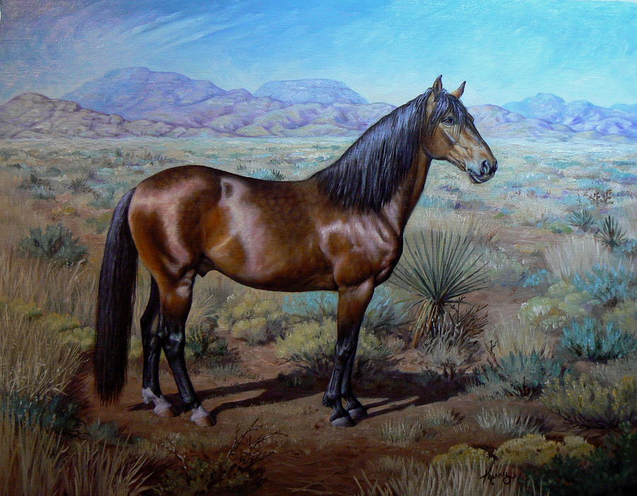 Equine Painting - Buster by Kerry Nelson