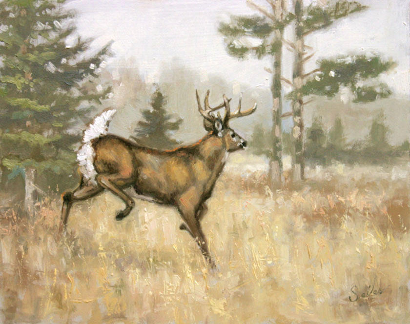 Wildlife Painting - Bustin by Larry Seiler