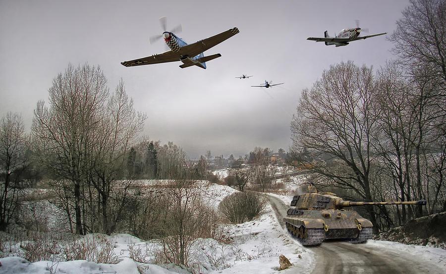 P-51 Digital Art - Busting the Bulge by Mark Donoghue