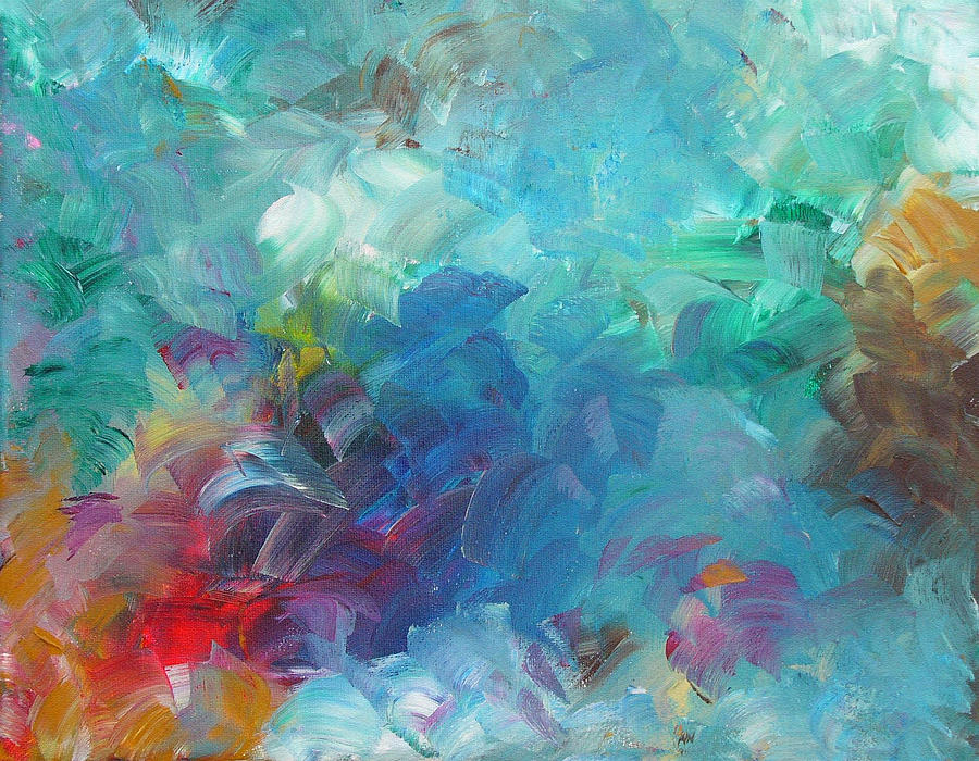 Abstract Painting - Busy Day by Peggy King
