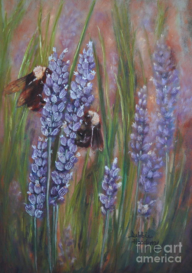 Flower Painting - Busy Work by Debbie Harding