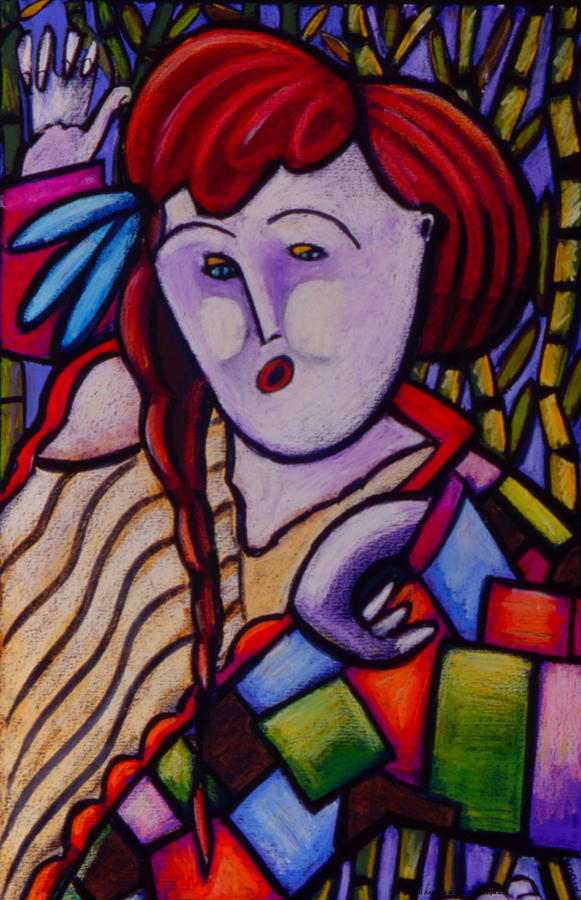 Expressionism Painting - Butah Dancer Wearing Quilot by Angelina Marino