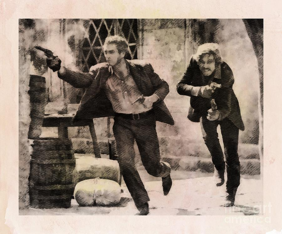 Butch Cassidy And The Sundance Kid, Classic Movie Painting