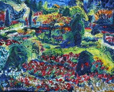 Butchart Gardens Painting - Butchart Gardens by Rob Elphinstone