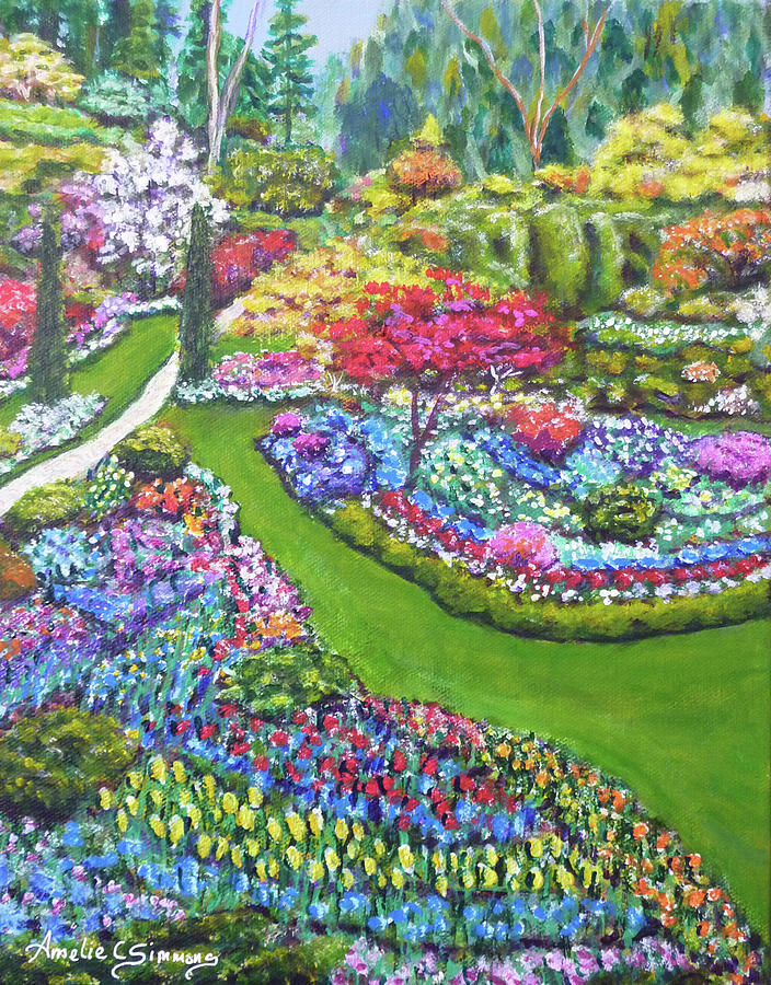 Butchart Gardens by Amelie Simmons