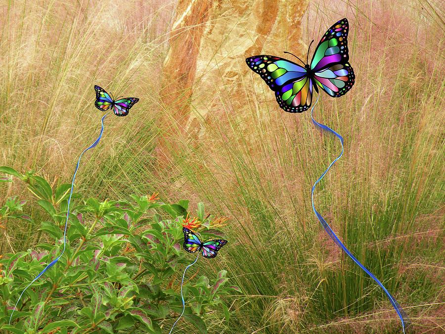 Butterflies Mixed Media - Buterflies Dream by Rosalie Scanlon