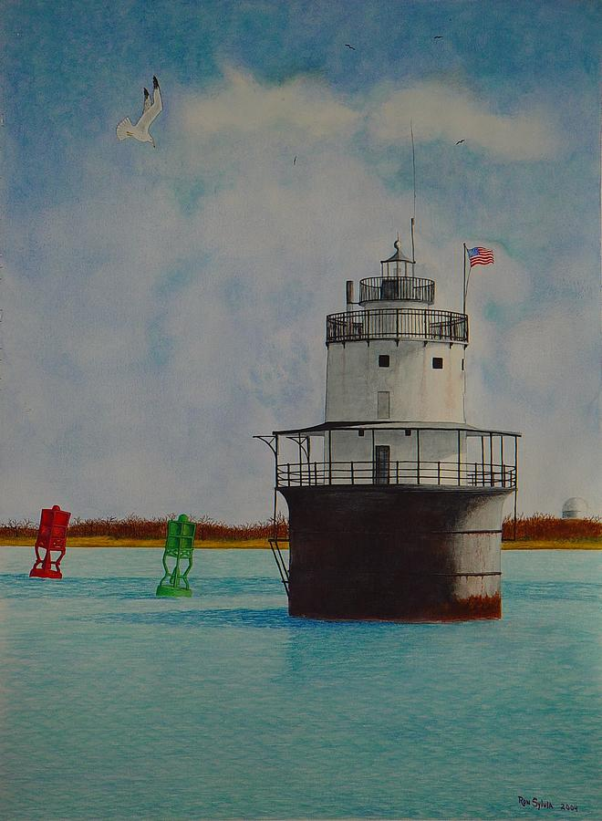 Lighthouse Painting - Butler Flats Lighthouse by Ron Sylvia
