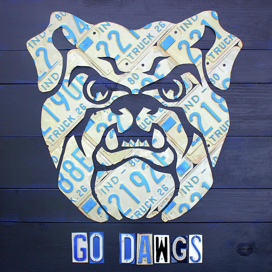 1c073790aeee14 Butler Mixed Media - Butler University Indiana Bulldogs Mascot License  Plate Art Logo by Design Turnpike