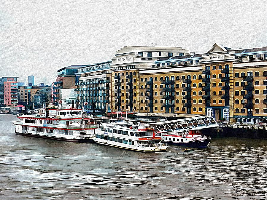 London Photograph - Butlers Wharf Area London by Dorothy Berry-Lound