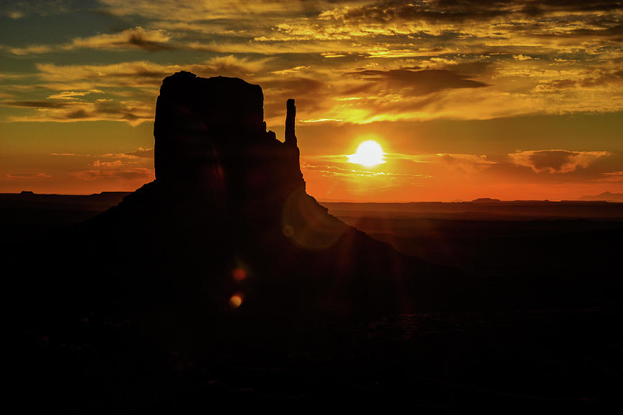 Butte Silouette  by Levin Rodriguez