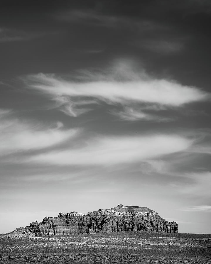 Goblin Valley Photograph - Butte With Clouds by Joseph Smith