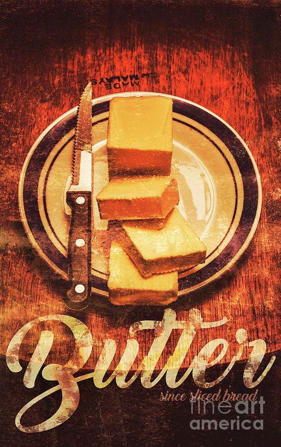 Tin Sign Photograph - Butter Since Sliced Bread Display by Jorgo Photography - Wall Art Gallery