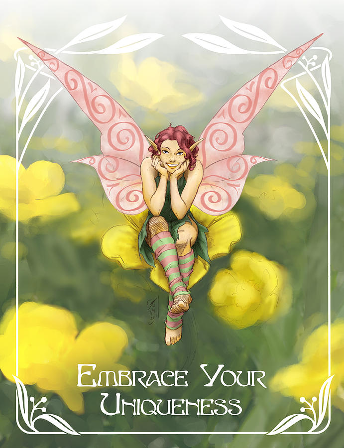 Fairy Painting - Buttercup by Brandy Woods