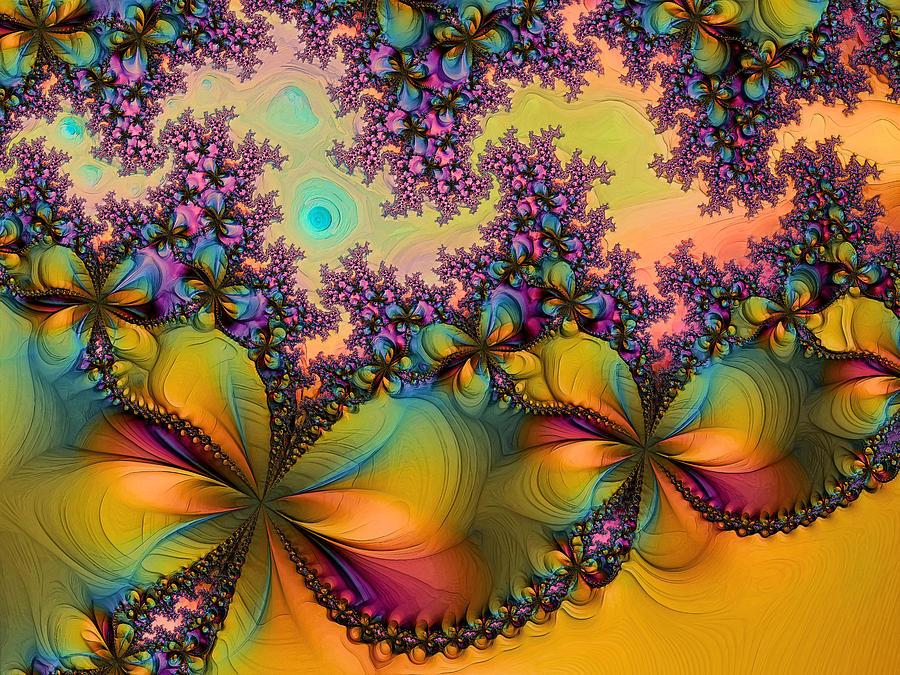 Abstract Digital Art - Butterflies 1 by Alexandru Bucovineanu