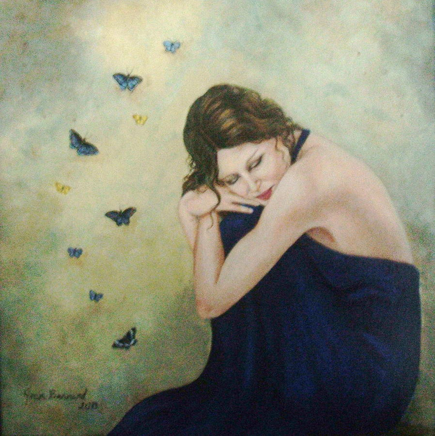 Figure Painting - Butterflies 2 by Joan Barnard