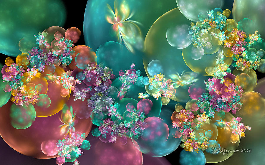 Butterflies, Bubbles and Flowers by Peggi Wolfe