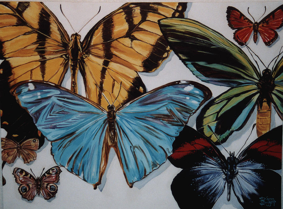 Butterflies Painting - Butterflies by Diann Baggett