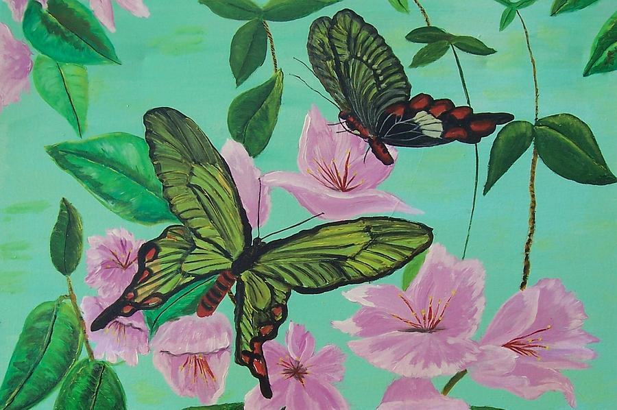 Butterfly Painting - Butterflies In Flight by Martha Mullins