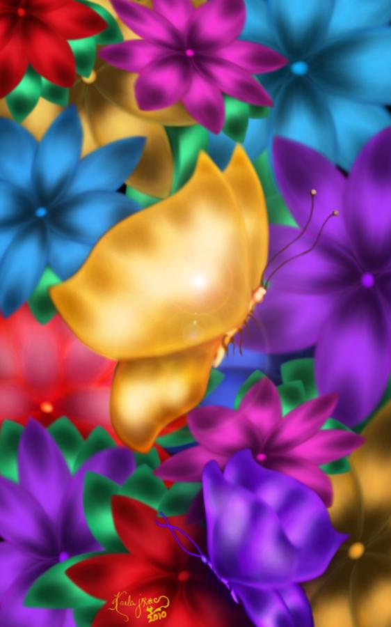 Digital Digital Art - Butterflies In Paradise by Karla White