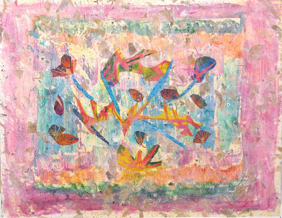 Collage Painting - Butterflies by Lisa Mee