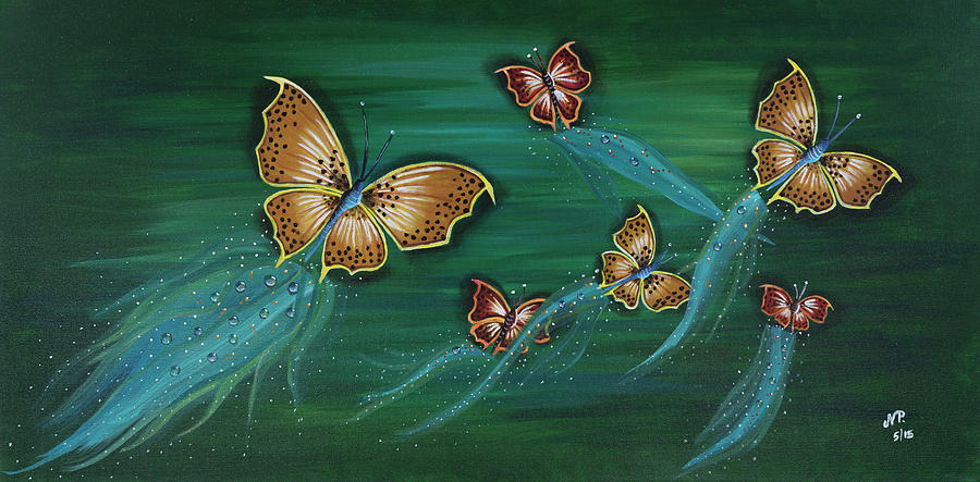 Butterflies Painting - Butterflies  by Nicole Paquette