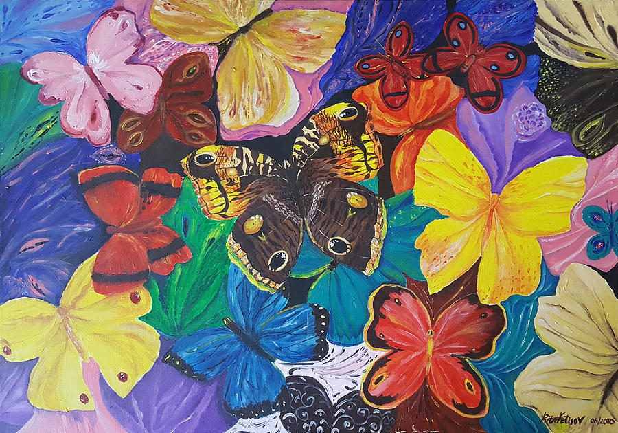 Butterfly Painting - Butterflies 2 by Rita Fetisov