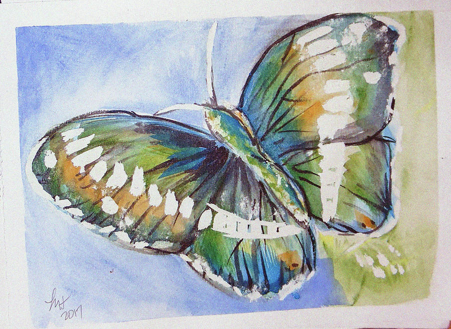 Butterfly 2 Painting by Loretta Nash
