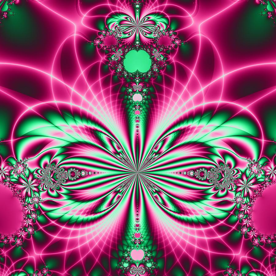 Fractal Digital Art - Butterfly 2 by Sfinga Sfinga
