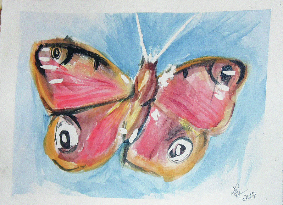 Butterfly 3 Painting by Loretta Nash