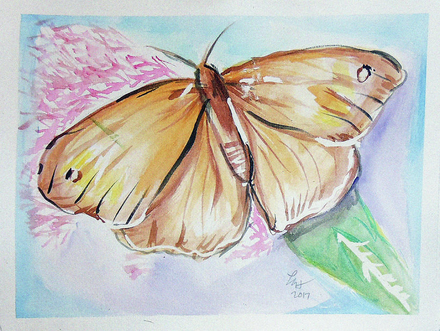 Butterfly 5 Painting by Loretta Nash