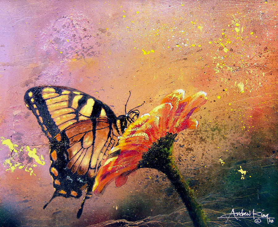 Nature Painting - Butterfly by Andrew King