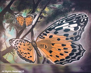 Butterfly Painting - Butterfly by Armando Bettencourt
