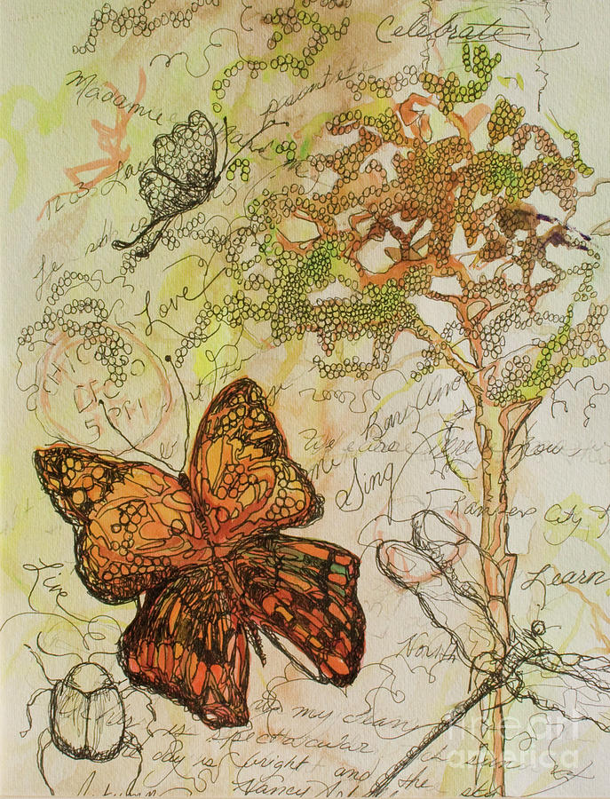 Journal Painting - Butterfly Art Journal by Michele Hollister - for Nancy Asbell